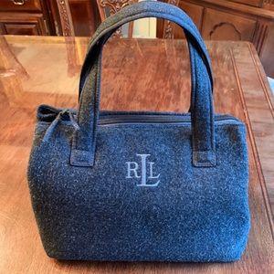 Lauren Ralph Lauren Grey Flannel Wool Purse